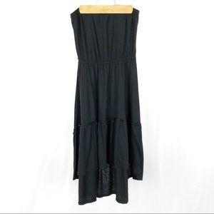 (E1-13) Faded Glory High Low Dress Black Large